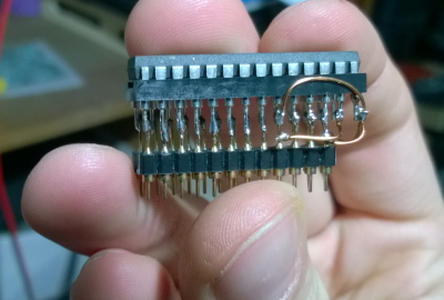 DIL adapter - 64kbit to 16kbit chip converter