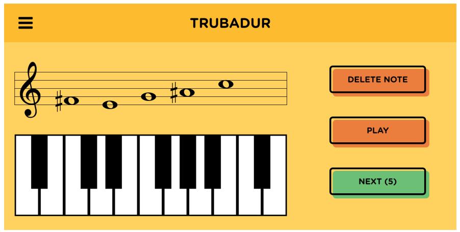 Troubadour intervals application